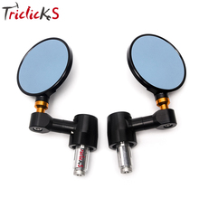 Triclicks 22mm Handle Bar Motorcycle End Side Mirrors 7/8 CNC Rear View Mirror Universal For Street Bikes Sports Bikes Choppers triclicks 22mm handle bar motorcycle end side mirrors 7 8 cnc rear view mirror universal for street bikes sports bikes choppers