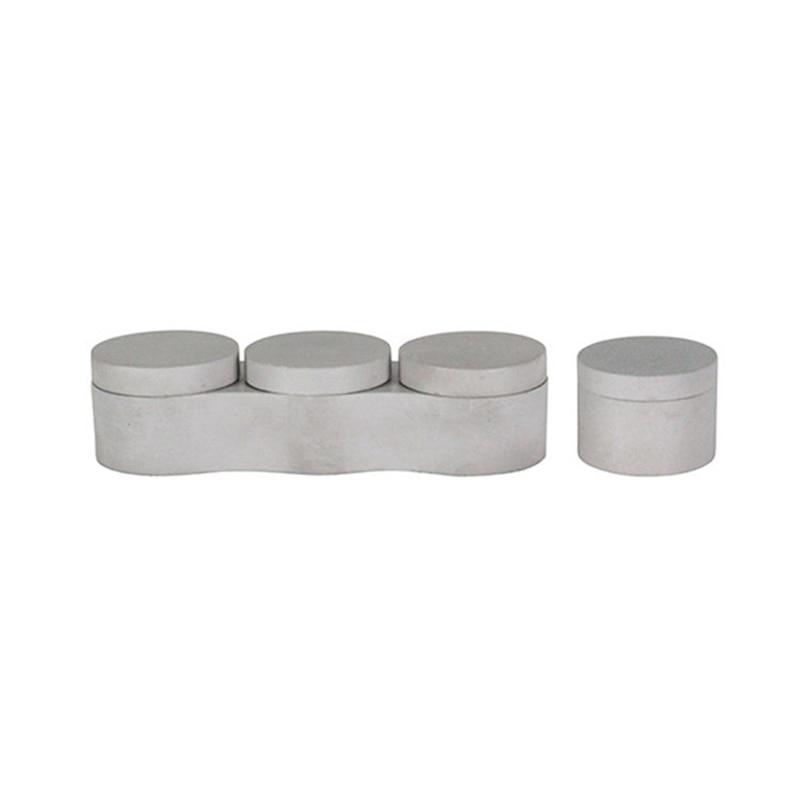 Силиконовые бетона коробка для хранения формы силиконовые контейнеры формы с крышкой плесень 3 + 1 коробки