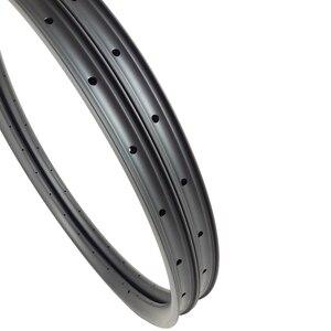 """Image 3 - 29er AM אנדורו אופני הרי 35mm אסימטרית נימוק מכריע ללא פנימית פחמן חישוקים 24H 28H 32H 36H א. ד. 3K 12K 3.5mm אופסט 29 """"MTB גלגל"""