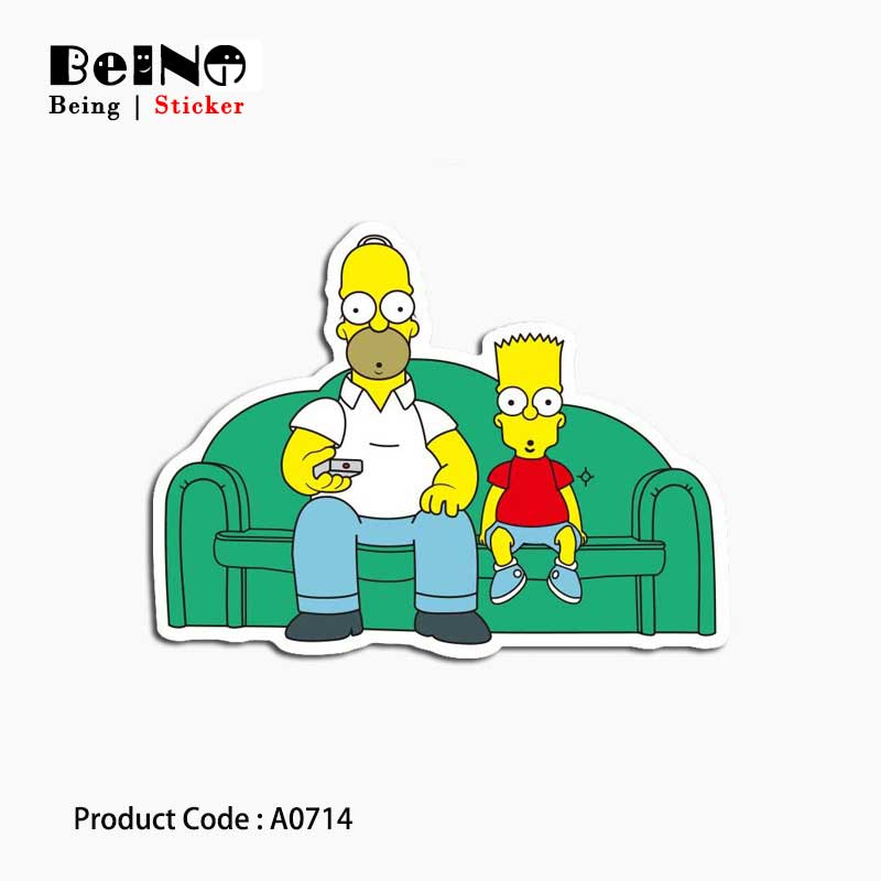 Simpsons Sofa Watch Television Sticker Harmony Waterproof Suitcase Laptop Guitar Luggage Skateboard Toy Lovely A0714 Stickers 31Simpsons Sofa Watch Television Sticker Harmony Waterproof Suitcase Laptop Guitar Luggage Skateboard Toy Lovely A0714 Stickers 31