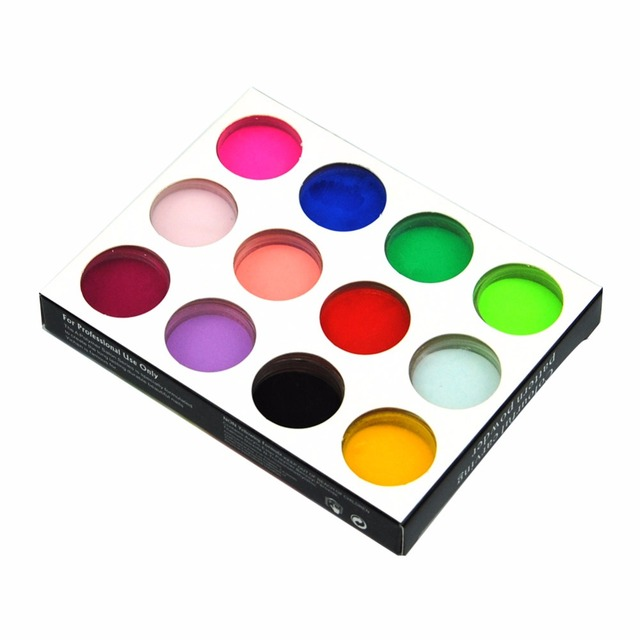 Manicure 12 Colors Nail Acrylic Power 3d Tips Builder Nail Art Tool