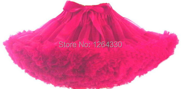In stock Baby solid color girls fluffy dance wear pettiskirts for kids cute chiffon tutu princess skirts Free shipping PETS-020