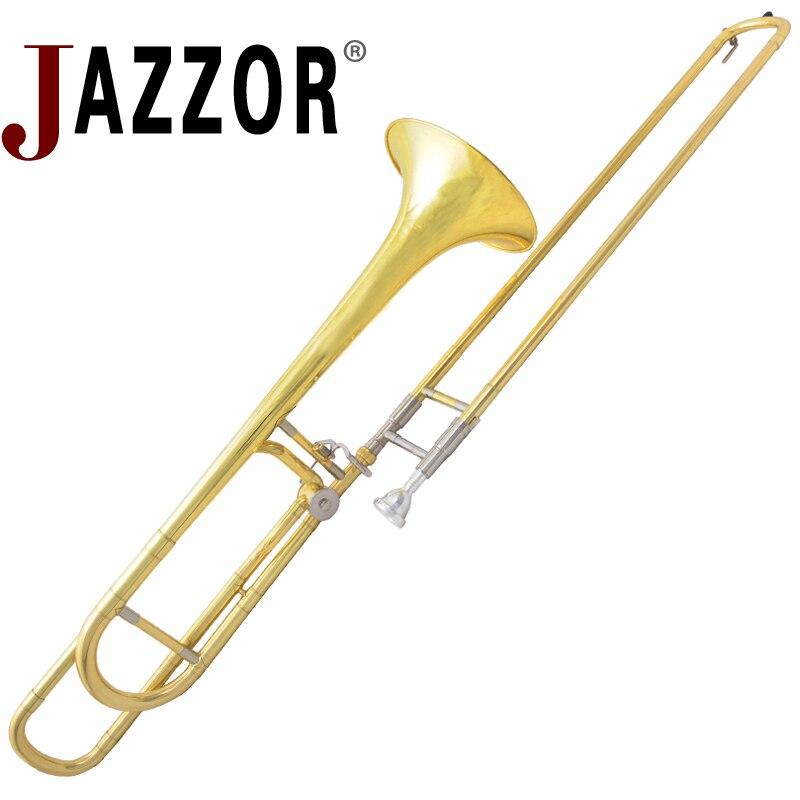 JAZZOR JBSL-800 ténor trombone avec le porte-parole avec cas, gants, or instruments à vent en cuivre
