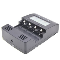 LCD Digital Display Battery Charger 4 Channel Analyser for AA AAA Batteries New Arrival