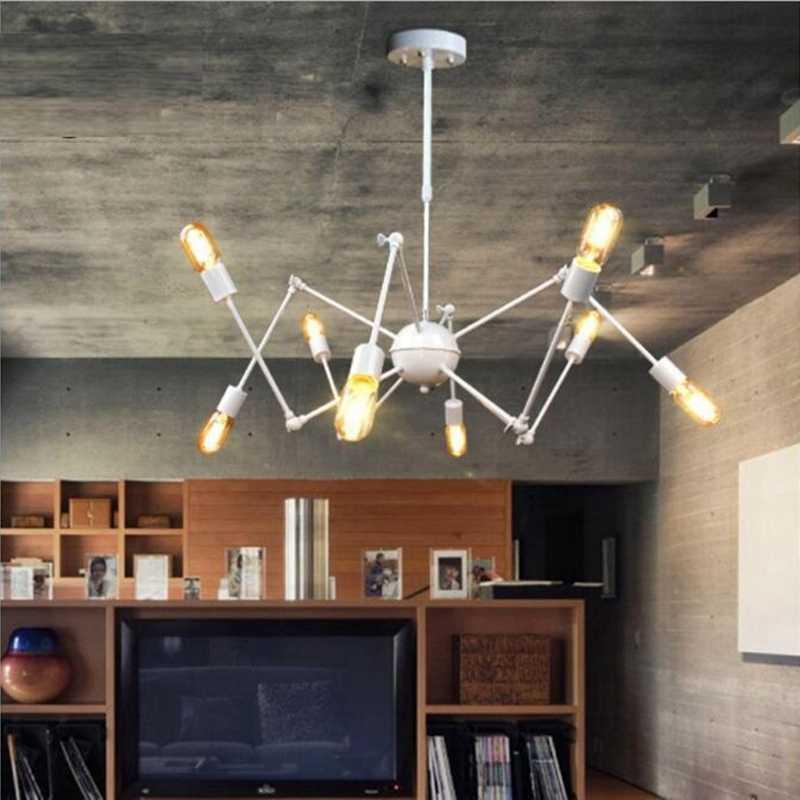 DHL EMS/SPSR LukLoy подвесные светильники, промышленный подвесной Паук свет современный светильник регулируемый скандинавский ретро гостиная свет