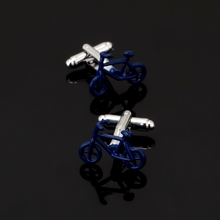 XK189 High quality men's shirts Cufflinks green blue bicycle Cufflinks tool brand of men's clothing accessories