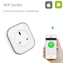 OPEU-003 10A Wifi Smart Switch Power Plug Socket EU 220V Wireless Light Outlet Timer Remote Control Support Alexa Google Home недорого