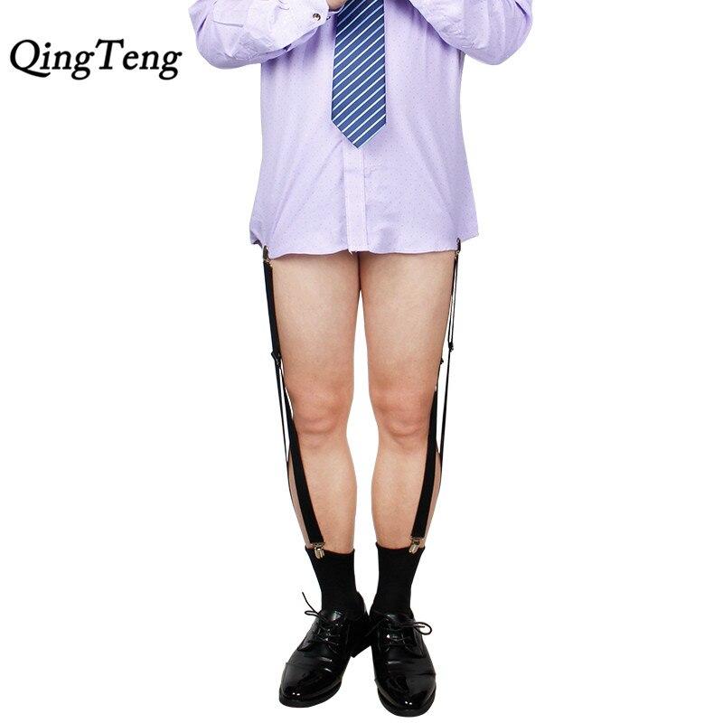 Apparel Accessories Reasonable High Quality Mens Shirt Stays Double Suspender Brand Braces For Shirts Holder Gentleman Leg Elastic Women Garter Adjustable Reliable Performance