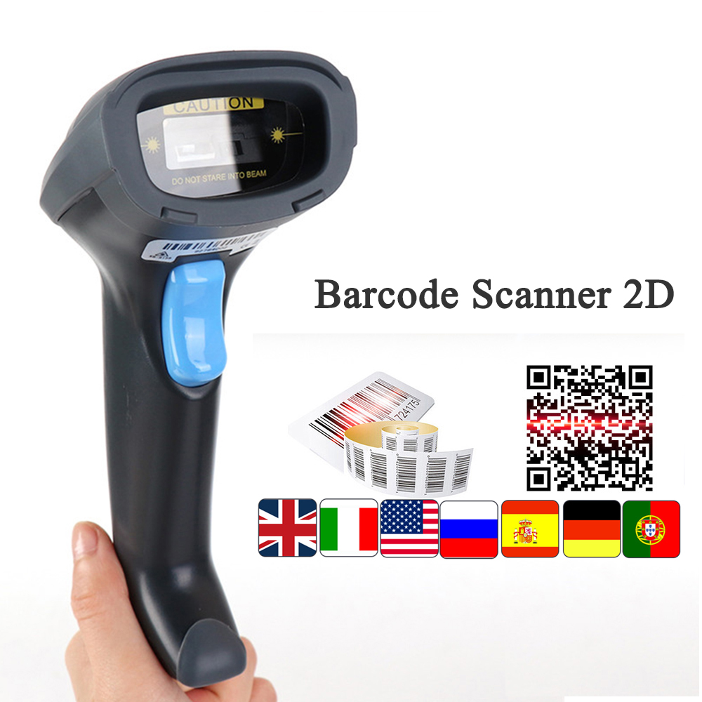 Handheld Barcode Scanner 1D 2D QR USB Wired barcode scanner 2D Bar code reader Scan for POS Data Matrix Barcode Scanner CCD wireless barcode scanner bar code reader 2 4g 10m laser barcode scanner wireless wired for windows ce blueskysea free shipping
