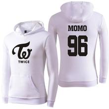 Streetwear KPOP TWICE Women Hoodies Sweatshirts Harauku Member Name Print Hooded Pullovers Tracksuit For Couple K-POP Clothing
