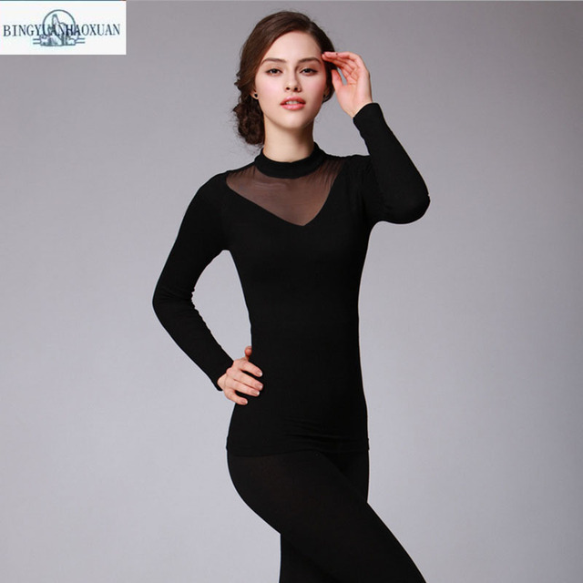 100% Pure Silk Women Long Johns set Ladies Warm Clothes Femme Thermal Underwear Sets Women's Body Suits Women Nago