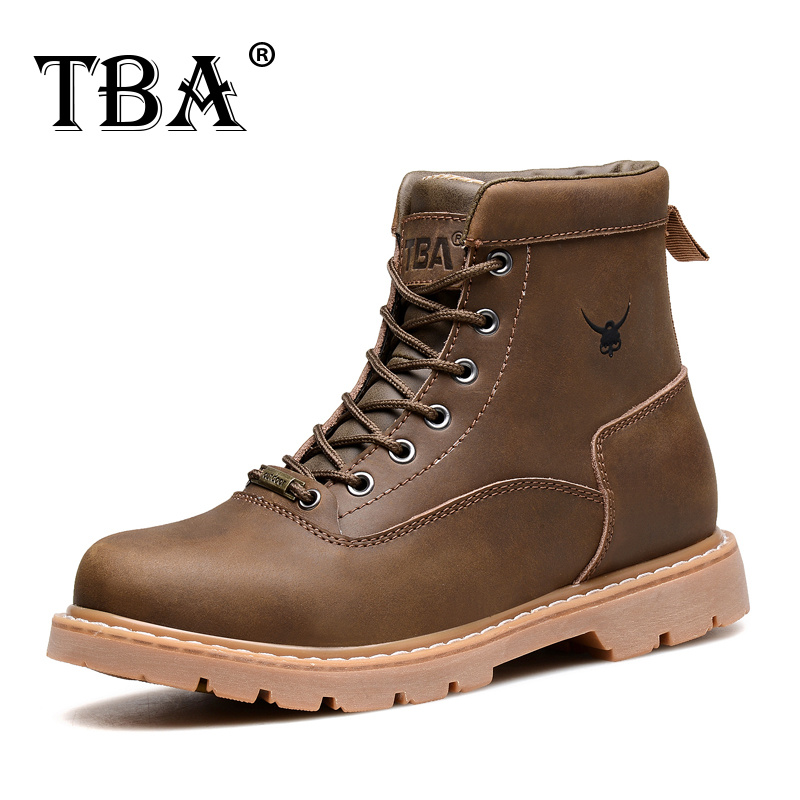 TBA 8083 Men's Winter Footwear Black Cow Split Upper with Rubber Outsole Male Martin Boots British Style Man Ankle Walking Shoes weisberger l weisberger the devil wears prada page 1