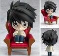 Nendoroid L Lawliet DEATH NOTE Figuras de Ação Anime PVC 100mm Toy Figuras Anime Japonês DEATH NOTE Nendoroid Figura em estoque