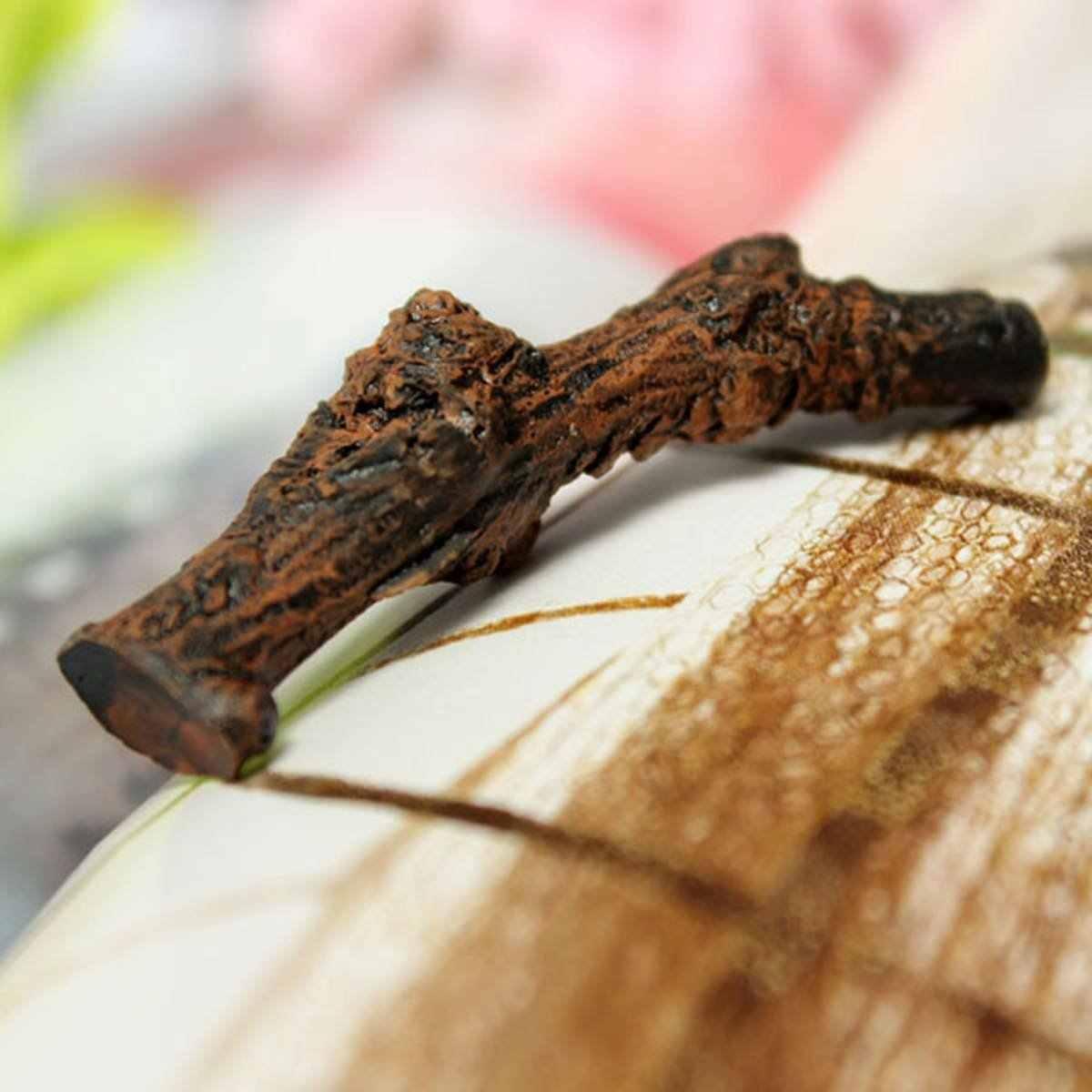 Миниатюрное коричневое дерево Дрифт ветви кукольный домик растительные горшки Сказочный садовый орнамент
