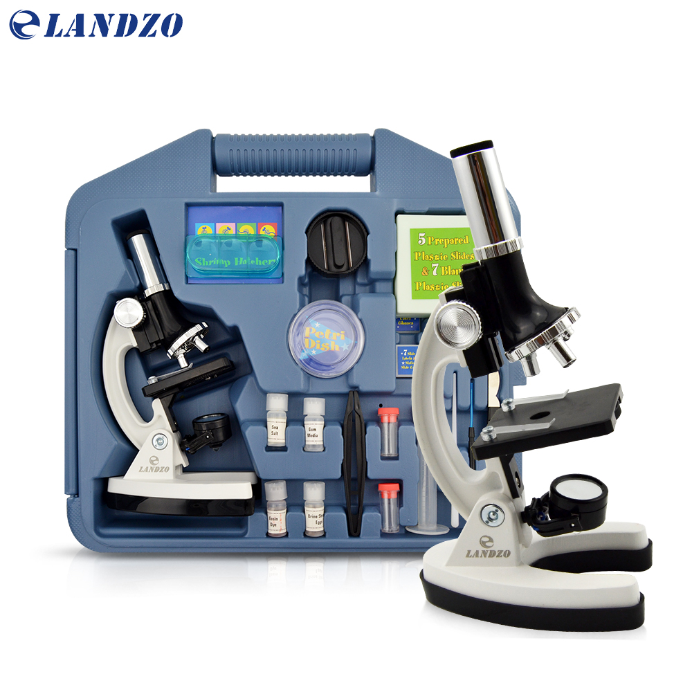 Professional Biological Microscope 100X-600X-1200X Students Educational Science Lab Monocular Microscope Metal Structure