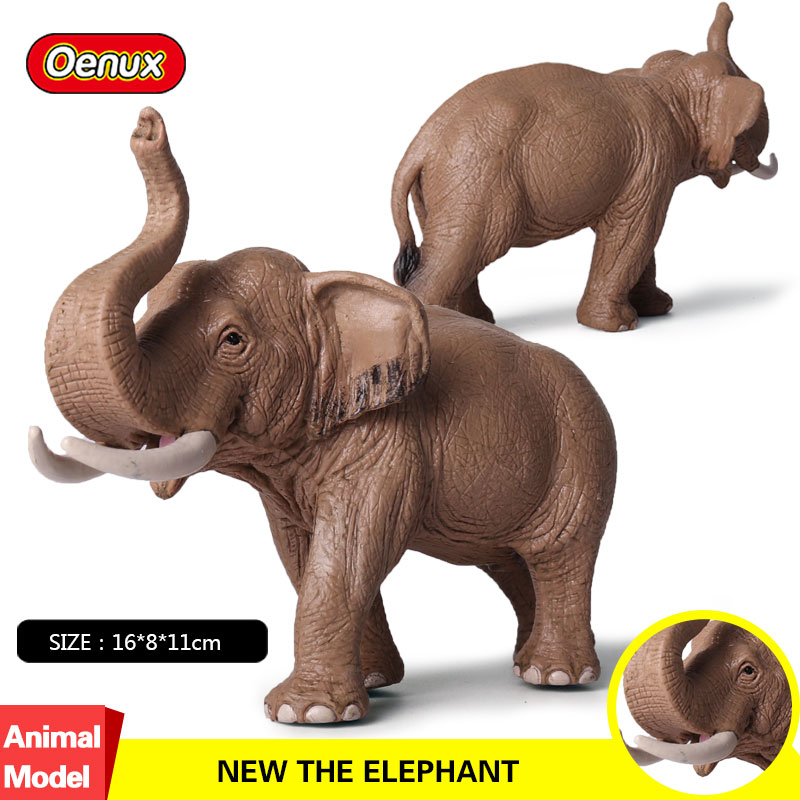 Oenux New Design Africa Animals African Elephant Figurines Simulation Zoo Animals Elephants Model Action Figures Collection Toys easyway zoo mini wild animals action figures set figurines kids toys for children wildlife toys simulation animal model toy bear