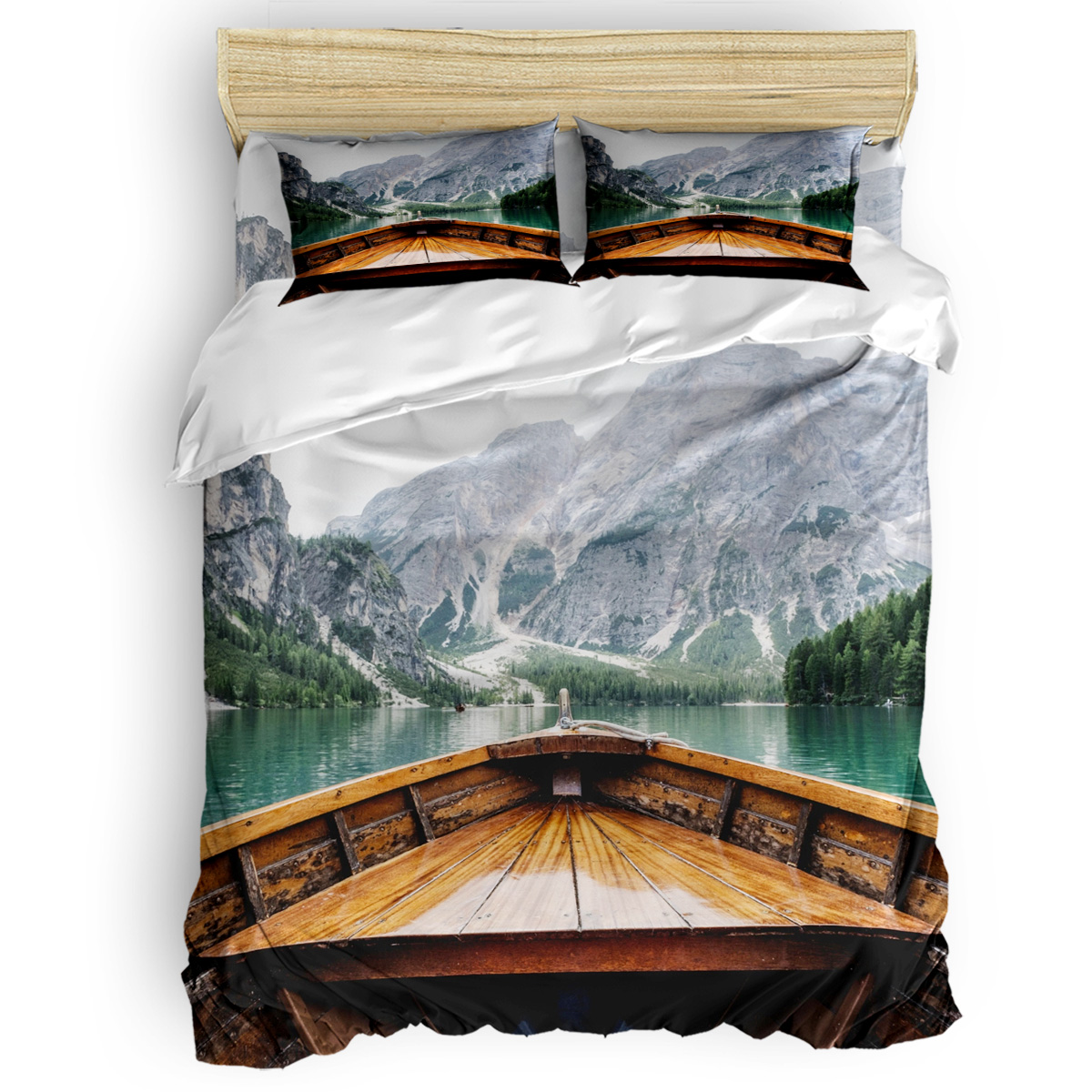 Live the Adventure  Duvet Cover Set Beautiful Lake Scenery Nature Collection of 3/4pcs Bedding Set Bed Sheet Pillowcases SetLive the Adventure  Duvet Cover Set Beautiful Lake Scenery Nature Collection of 3/4pcs Bedding Set Bed Sheet Pillowcases Set