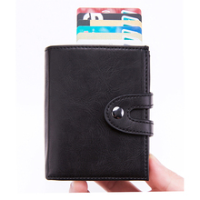 Bycobecy 2019 Business Mens Credit Card Box Automatic Holder RFID Wallet Anti-magnetic Anti-theft Case