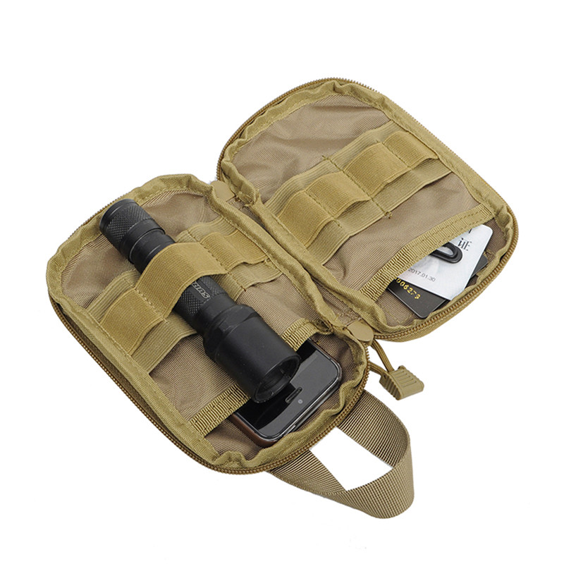 1000D Nylon Tactical Bag Outdoor Molle Military Waist Fanny Pack Phone Key Mini Tools Waterproof Airsoft Pouch Emergency Kit