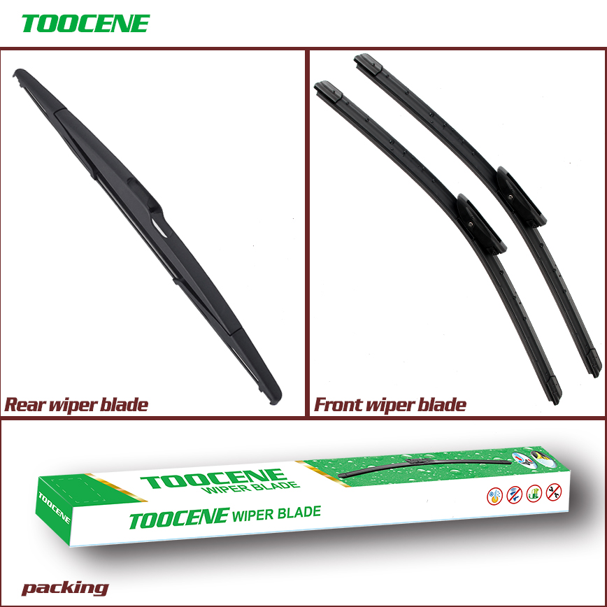 Front And Rear Wiper Blades For Renault Megane Hatchback 2008 -2016 Combo Rubber Windscreen Wipers Auto Car Accessories 24+16+14