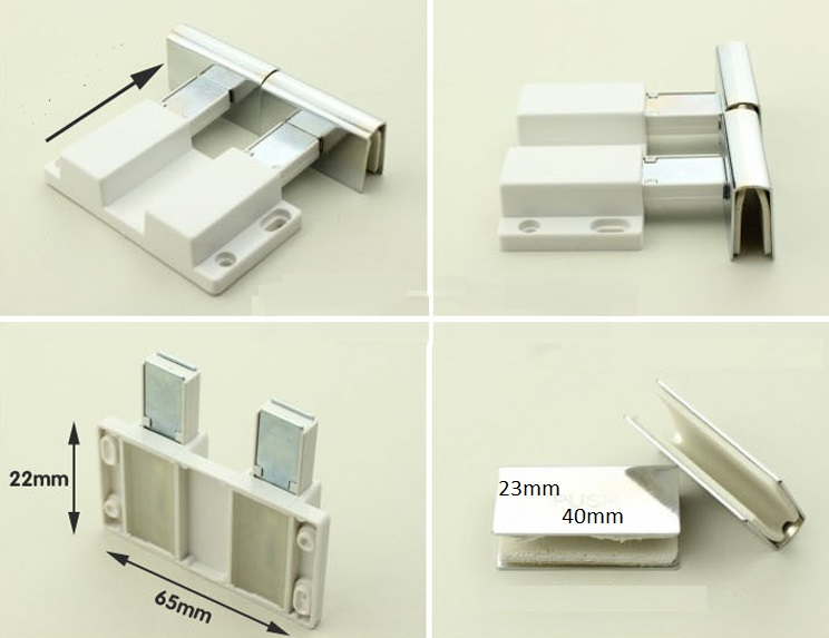 4setslot Stainless Steel Push To Touch Catch Latch Display Cabinet