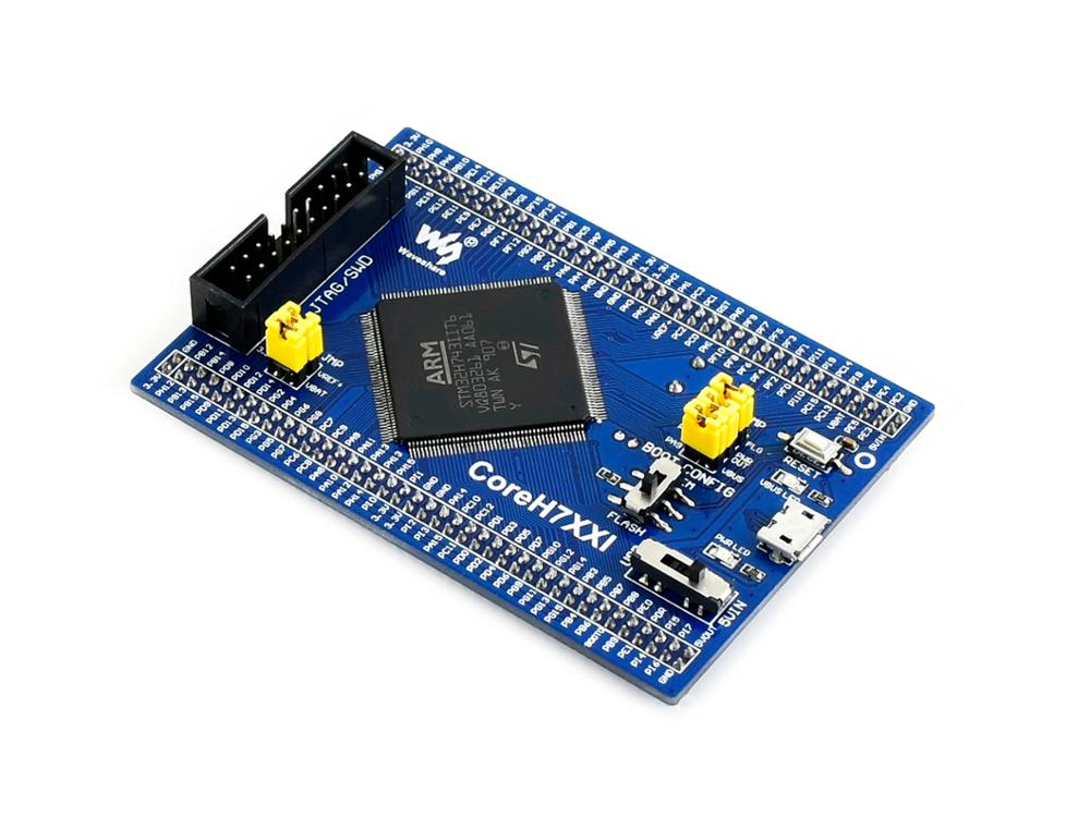 Waveshare STM32 STM32H743IIT6 MCU Core Board, Full IO Expander, JTAG/SWD Debug Interface