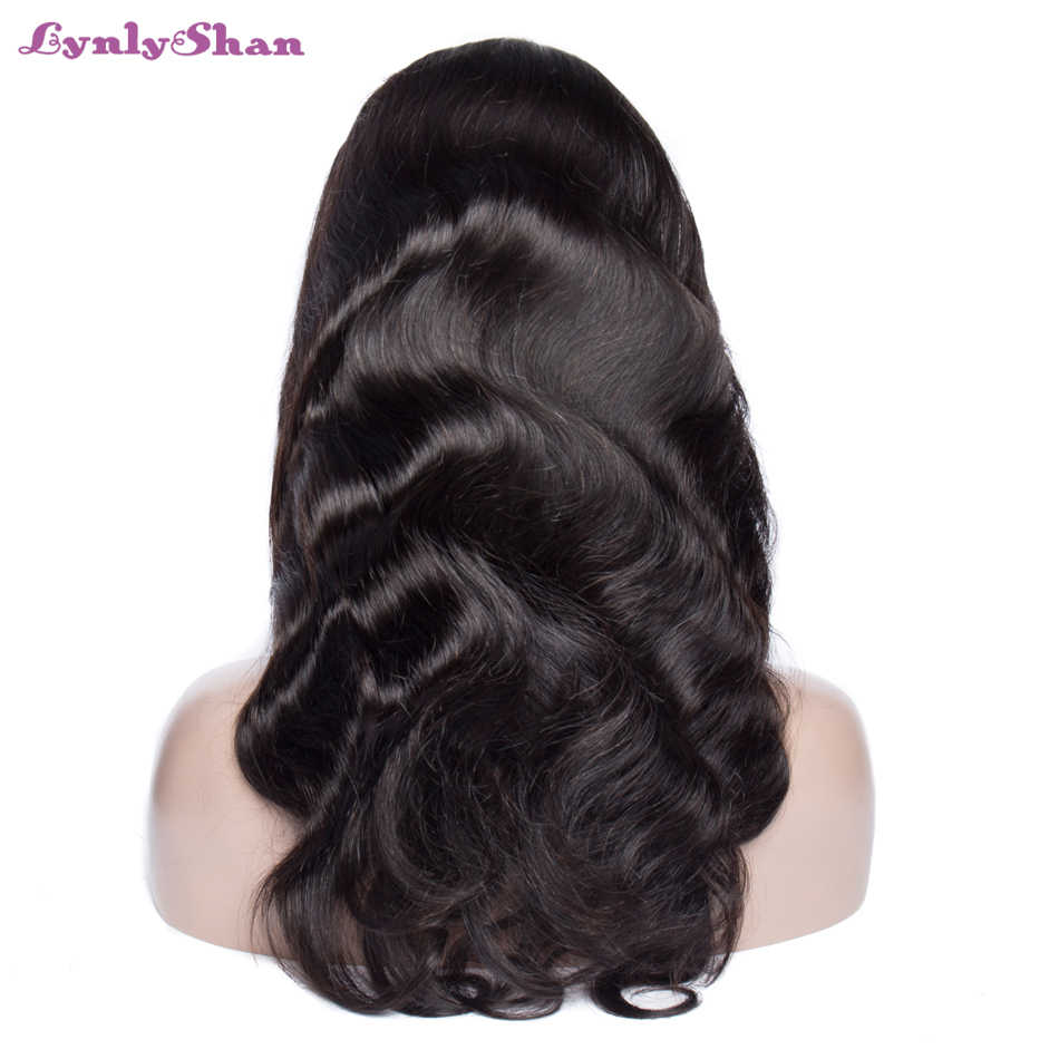 Lynlyshan Body Wave Wig Remy Human Hair Wig With Baby Hair 8-28 Inch Brazilian Lace Frontal Wig Natural Colour Free Shipping
