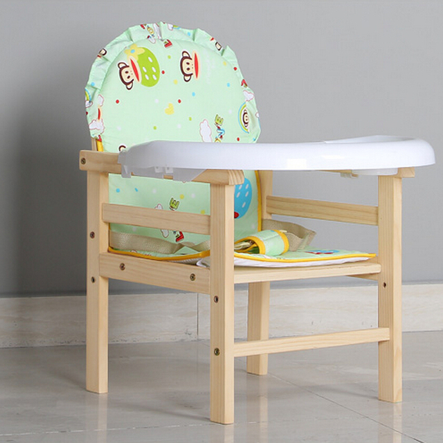 Hot Solid Wood Baby Feeding Chair For Children Kids Portable Eat Dining