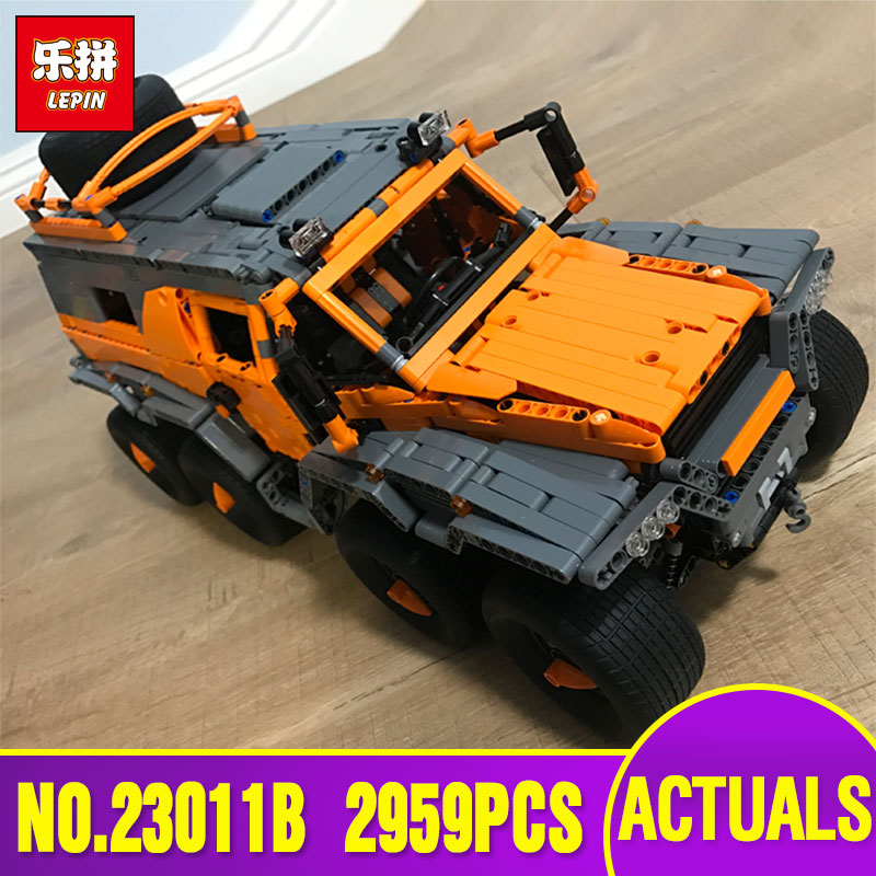 DHL LEPIN 23011B Technic Series Off-road vehicle Model Educational Toy Building Kits Block Bricks Compatible legoing 5360 model hot 378pcs technic motorcycle exploiture model harley vehicle building bricks block set toy gift compatible with legoe