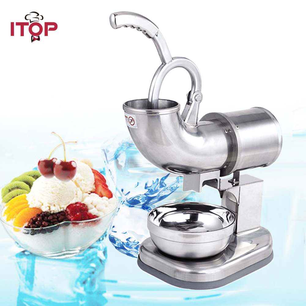 Ice Shaver Machine Snow Cone Maker Crusher Smasher Commercial Electric Stainless Steel Machine stainless steel electric ice shavers crusher chopper ice slush maker icecream snow cone ice block breaking machine eu us plug
