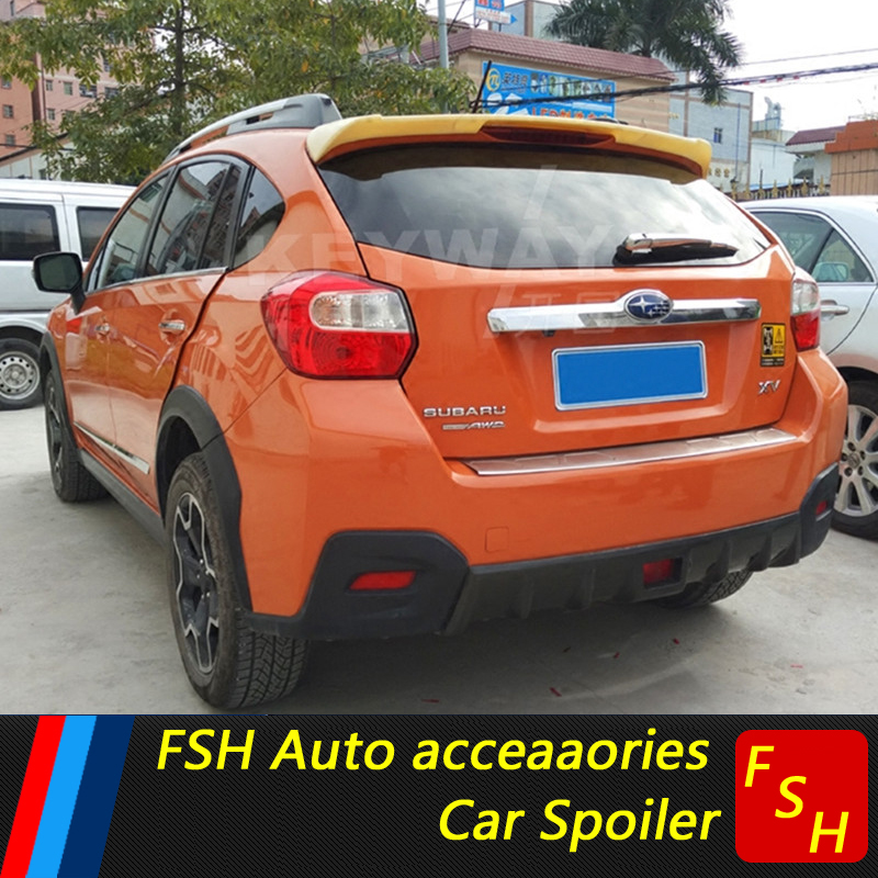 For Subaru XV Spoiler ABS Material Car Rear Wing Primer Color Rear Spoiler For Subaru XV Spoiler 2011-2018