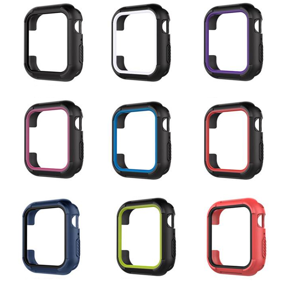 Protective cover For Apple watch 4 Case iwatch 44MM 40MM shell Silicone TPU Protection frame watch accessories uhappy protective tpu back case cover for up520 gray