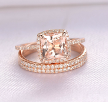Diamond ring rose gold rings Gold cubic zirconia ring Square drill three-in-one ring Indian Jewelry Luxury Jewelry B2154 цена и фото