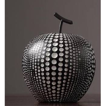 Nordic Ornaments Modern Abstract Apple Resin Creative Crafts Home Living Room Office Decorations Business Gift M2038