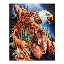 Diamond Painting Diy Animal Eagle Wolf Square Full Embroidery Mosaic Living Room Decoration