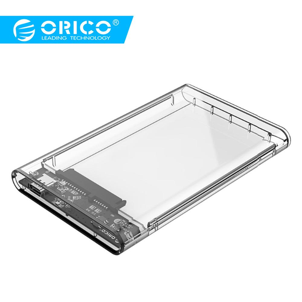 ORICO 2.5 Inch Transparent HDD Case Type-C Gen 1 To Sata 3.0 Tool Free 5 Gbps USB 3.1 Hard Drive Enclosure - (2139C3)