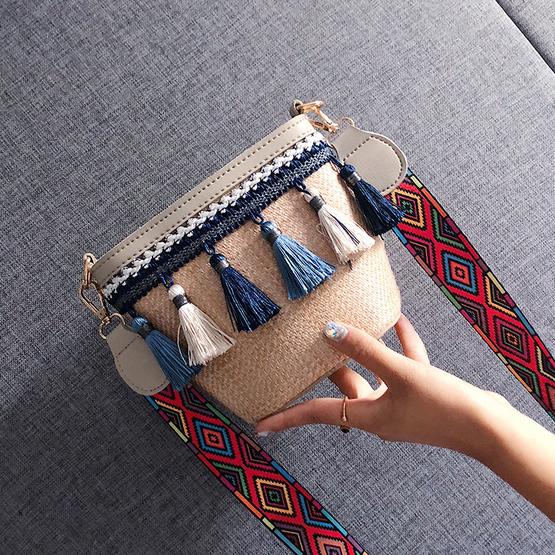 Summer Crossbody Rattan Bag
