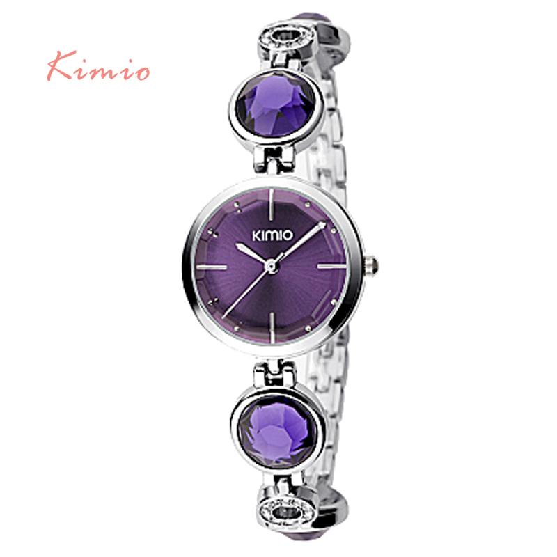 Prix pour Kimio fanshion qualité cristal diamant bracelet montres à quartz femme montres 2017 marque de luxe dames poignet montres pour femmes