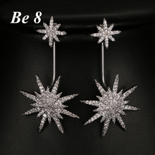 Be8 Brand Newly Shinny AAA Cubic Zirconia Drop Bridal Earring Brincos Micro Inlay Crystal Snow Shape Earring Party Jewelry E-260 be8 brand micro inlaid shiny aaa cubic zirconia drop earring beautiful birthday present for women christmas gifts jewelry e 200
