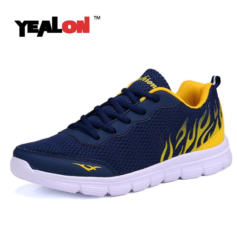 Yealon/кроссовки для бега мужские кроссовки для мужчин дешевые кроссовки спортивные мужские erkek Spor ayakkabi 2017
