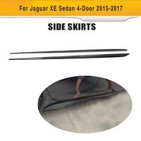 Carbon Fiber Side Skirt Aprons Kit for Jaguar XE Sedan 4 Door 2015 2017 Car Tuning Parts 2pcs