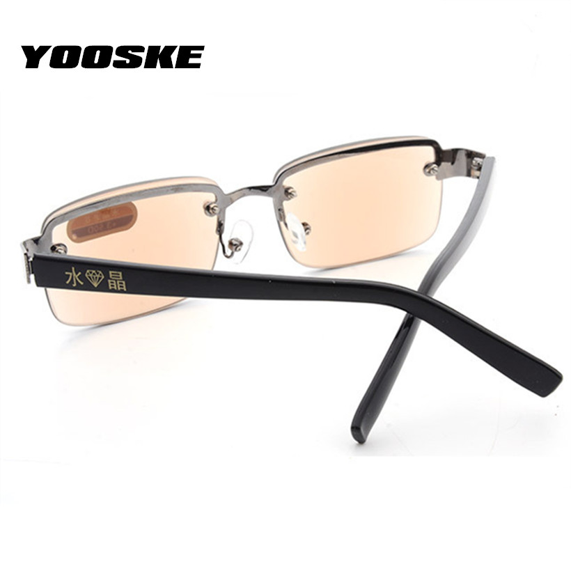 Apparel Accessories Men's Glasses Yooske Rimless Classic Style Glass Lenses Reading Glasses Plain Mirror Men Women Unisex Eyewear Pretty And Colorful