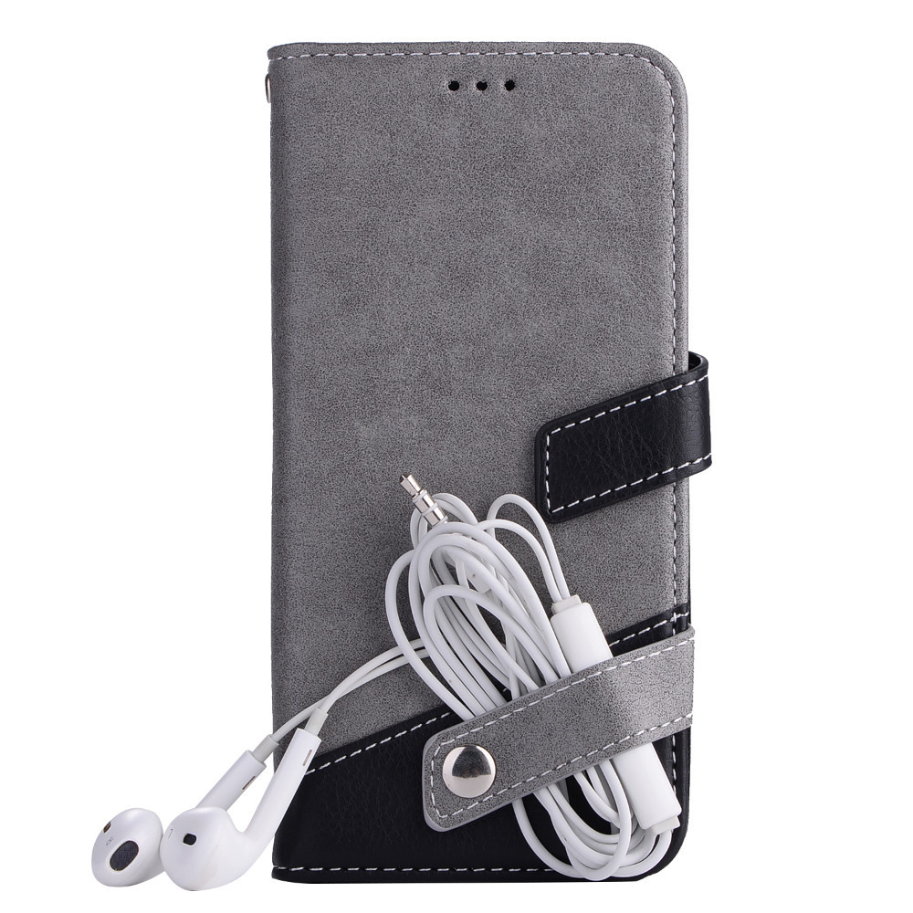 Wallet Case For IPhone X 5 5s Se 6 6s 7 8 Plus Flip Bag Cover With Photo Frame PU Leather Kickstand Card Holder Slot Shell