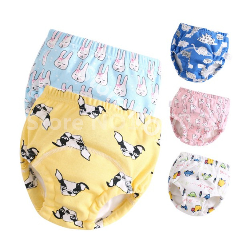 6Layer Crotch Baby Cotton Training Pants Panties Cloth Diapers Reusable Child Nappies Diaper Waterproof Baby Underwear Washable(China)