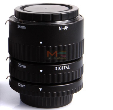 ФОТО Meike MK-N-AF-B Metal Auto Focus AF Macro Extension Tube Set for Nikon Camera