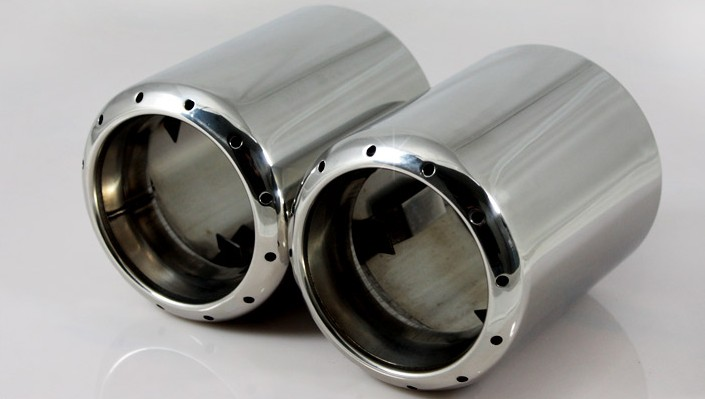 Auto Tail pipe exhaust tip muffler Stainless steel For Mazda 3, mazda 6 CX-5 cx 5 2012-2015,2pcs/lot