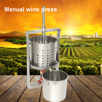 304 Stainless Steel Press Machine Fermentation Residue Pressing On Hollow Barrel Grape Wine Marc Saperate Machine Manual Wine