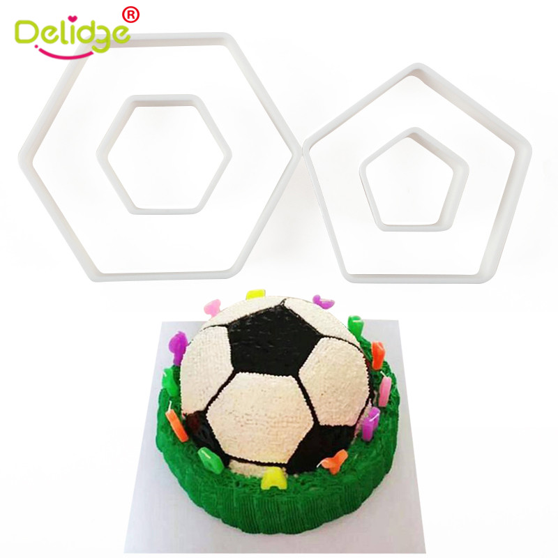4pcs Football Cookie Cutter Set Plastic Biscuit Mould Fondant Cake Decor IT
