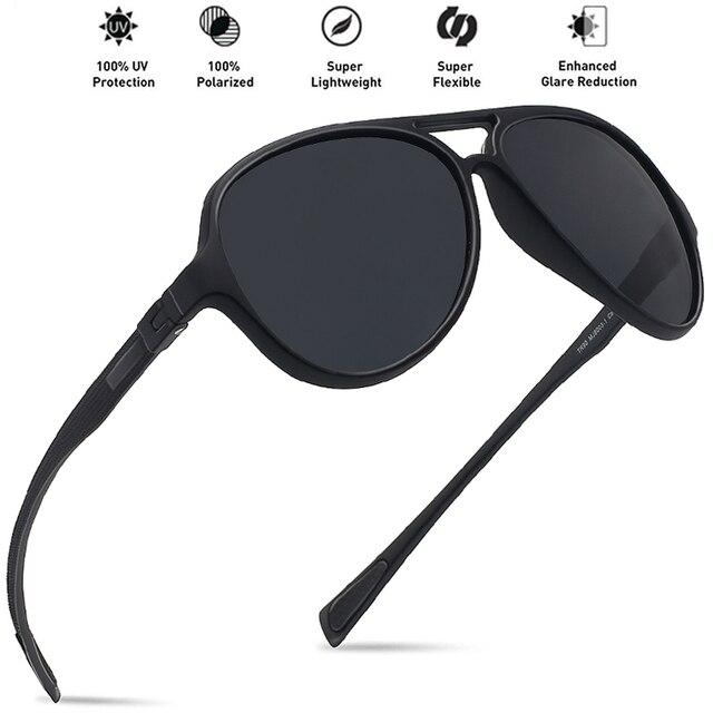 bdf279ffe17 MAXJULI Sunglasses Men Polarized Pilot Tr90 Unbreakable Round Frame  Oversize Sports Hiking Outdoor Fashion Women Eyerwear MJ8003