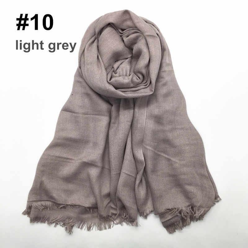 180 г толстые мусульманские хиджабы длинный шарф плотная цвет две стороны короткие кисточкой для женщин платок Исламская повязка на голову тюрбан 180x90 см